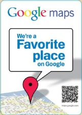Google Maps -- We're a Favorite Place on Google