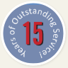 15 Years of Outstanding Service